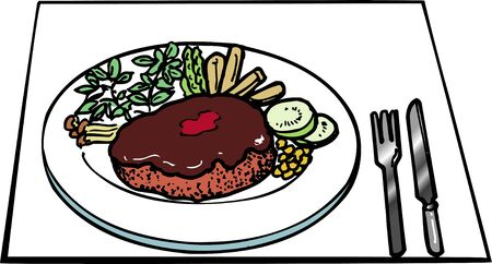 patty: Hamburger steak