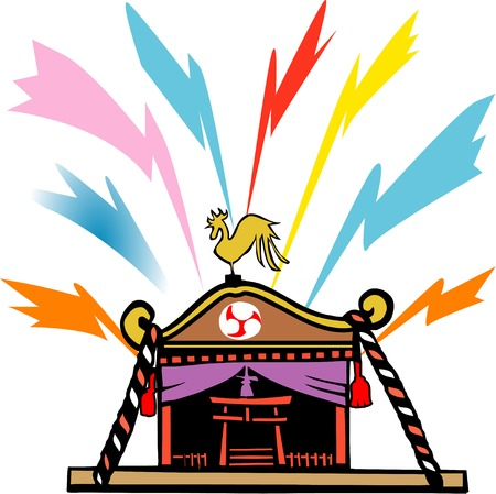 annual events: Portable Shrine Stock Photo