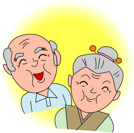 japanese people: The old couple Stock Photo
