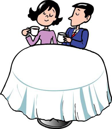 asian couple: Tea drinking
