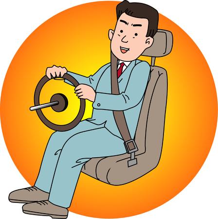 drivers: Seat belt Stock Photo
