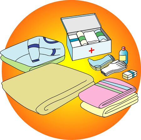 prevention: Disaster prevention goods Stock Photo