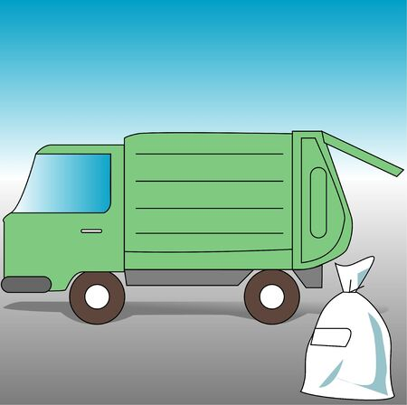 environmental issues: Garbage truck