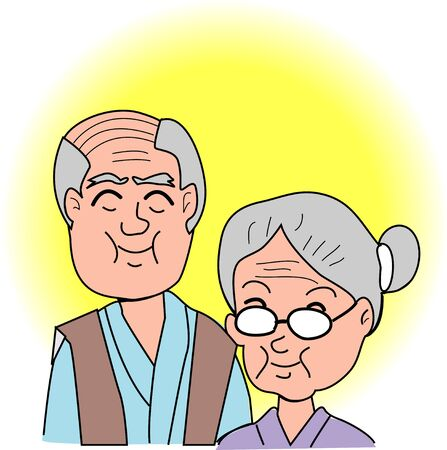 likely: The old couple Stock Photo
