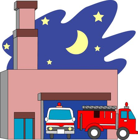 emergency vehicle: Fire station