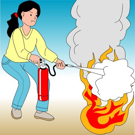 woodpile: Fire extinguisher training