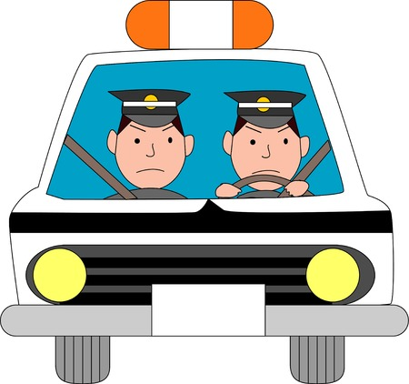 警察の車 写真素材