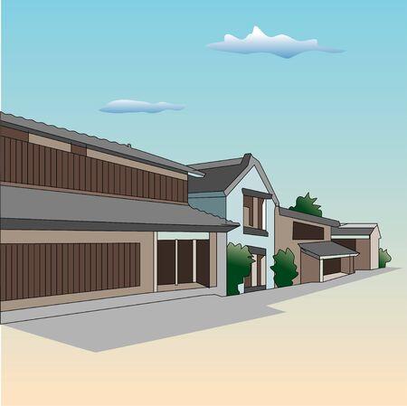 row of houses: Row of houses