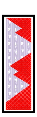 background pattern: Senjafuda background pattern Stock Photo