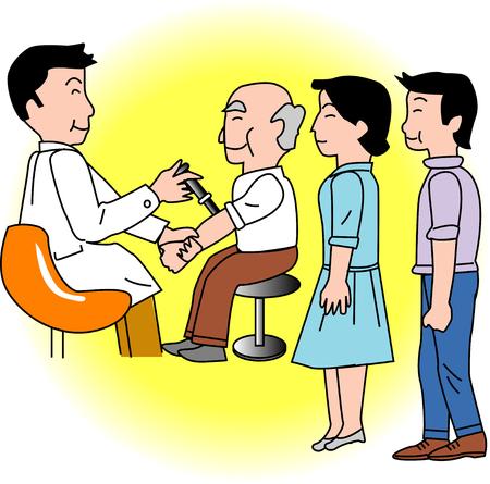 flu vaccination: vaccination Stock Photo