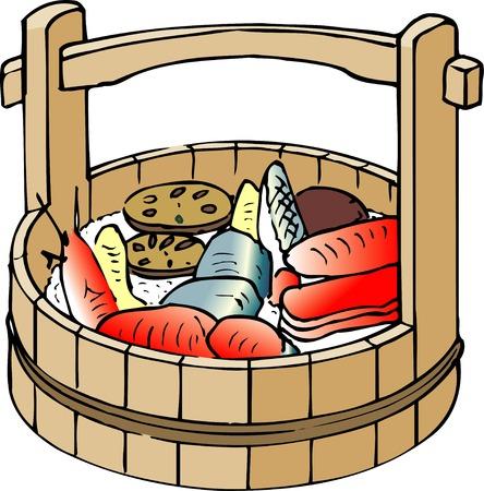 provisions: Chirashi sushi