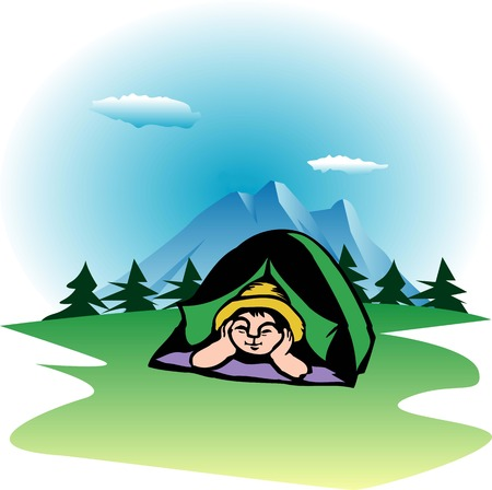 for: Tent for one person Stock Photo