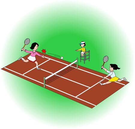テニスコート 写真素材