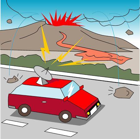 eruption: Volcanic eruption Stock Photo