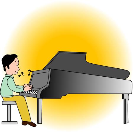 pianist: Pianist Stock Photo