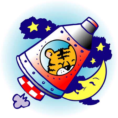 虎に乗るロケット