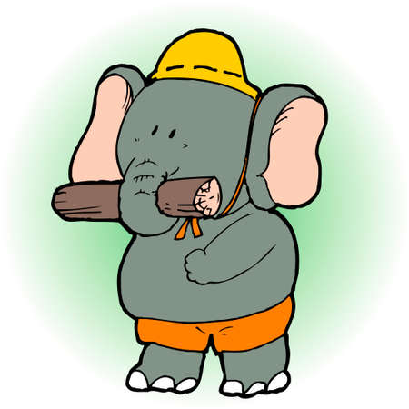land mammals: Elephant Stock Photo