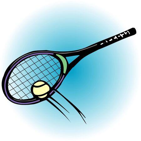 テニス ラケット 写真素材