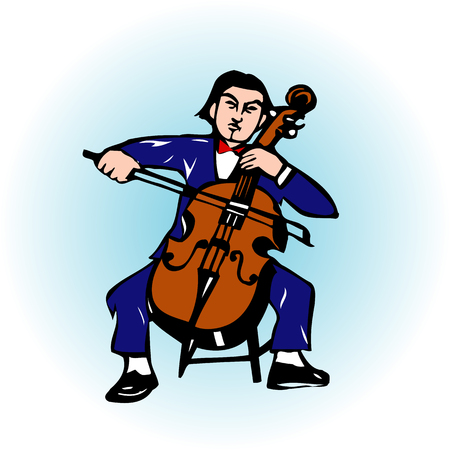cellos: Cellist Stock Photo