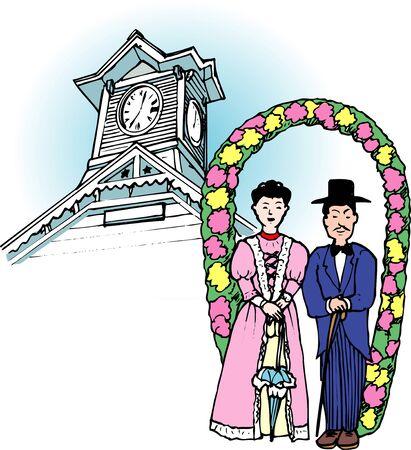 clock tower: Clock Tower Festival Stock Photo