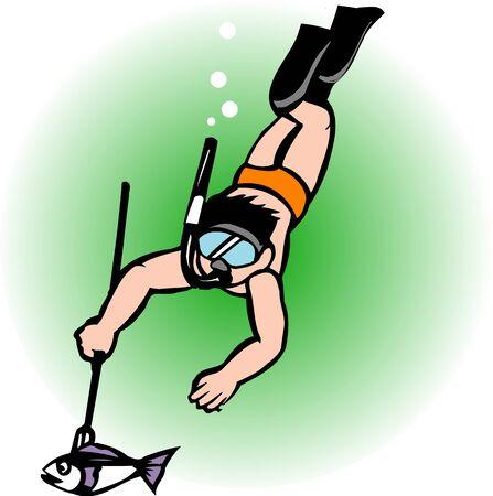 harpoon: Diving Stock Photo