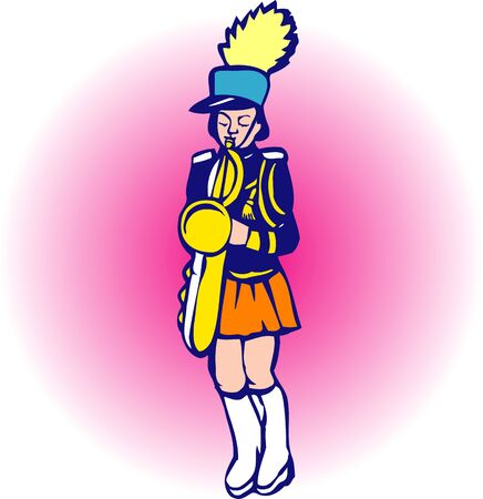 fife: Marching band Stock Photo