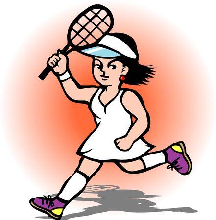 女子テニス 写真素材