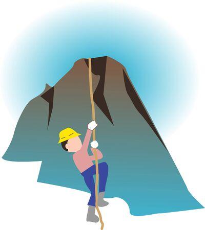 Rock climbing 版權商用圖片