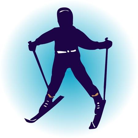 スキー 写真素材