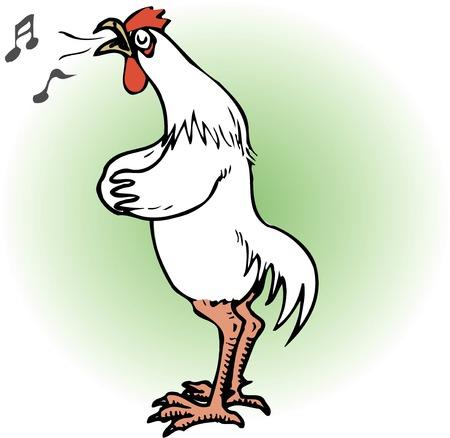 living organism: chicken to sing