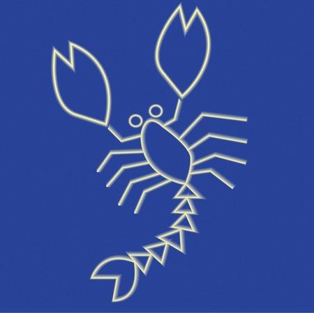 zodiak: Scorpion Stock Photo
