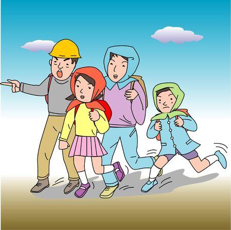evacuation: Evacuation behavior