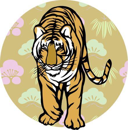 sho chiku bai: Sho Chiku Bai and Tiger Stock Photo