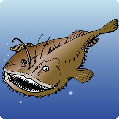 deepsea: Angler Stock Photo
