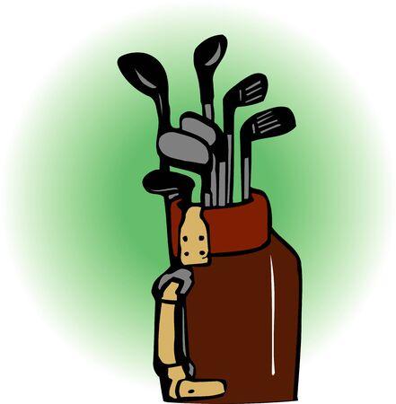 golf bag: Golf bag