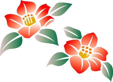 stencil flower: Camellia