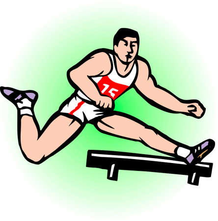 hurdle: Hurdle competition Stock Photo