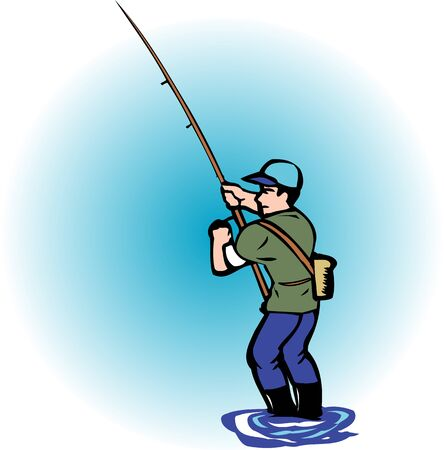mountain stream: Ayu fishing