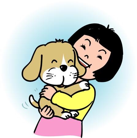 carnivora: Girl that huggy a dog