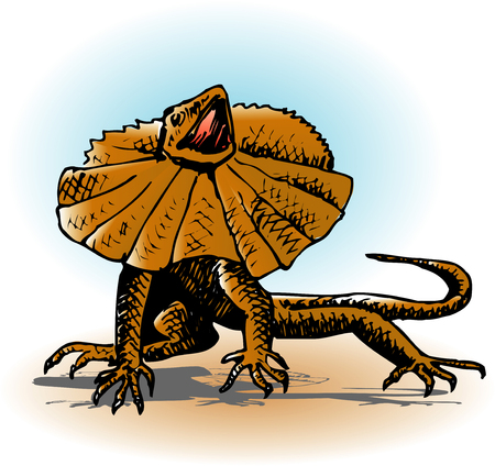 frilled: Frilled lizard