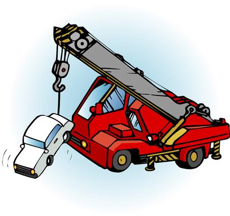 conflagration: Crane truck