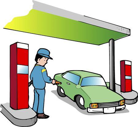 petrol station: Petrol station