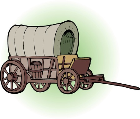 511 covered wagon stock illustrations cliparts and royalty free rh 123rf com covered wagon wheel clip art covered wagon silhouette clip art