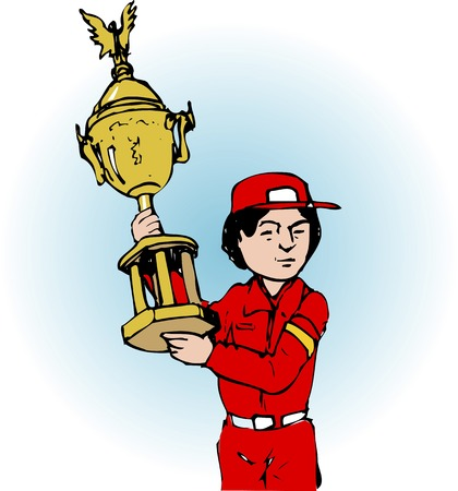commendation: Championship trophy Stock Photo