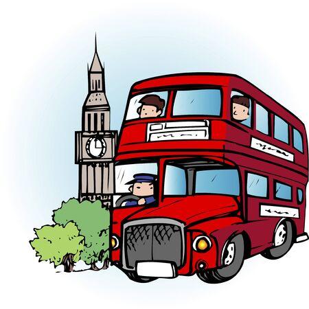 doubledecker: London double-decker bus