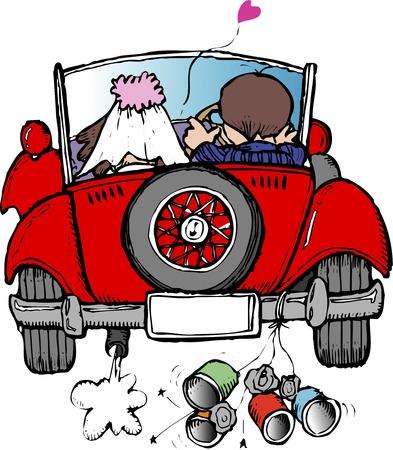 matrimony: Classic car Stock Photo