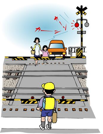 breaker: Railroad crossing Stock Photo