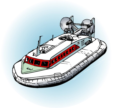 the hovercraft: Hovercraft Hobby Stock Photo