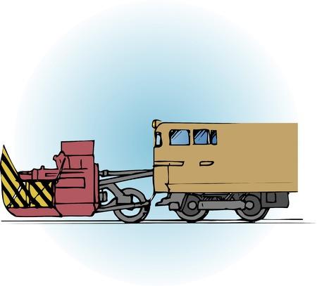 plow: Rotary snow plow