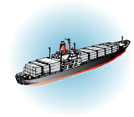 コンテナー船 写真素材 - 47679282